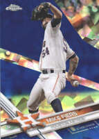 MIKE FIERS 2017 TOPPS CHROME SAPPHIRE EDITION #496 ONLY 250 MADE