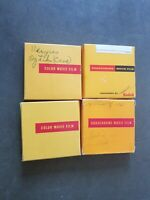 Vtg Lot of 4 Kodachrome 16mm Film 1950s 1960s Vacation Xmas Summer Home Movies
