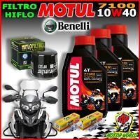 KIT TAGLIANDO OLIO MOTUL 7100 10W40 FILTRO E CANDELA BENELLI TRK 502 X 500 2019