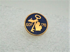 Small GOP Republican Michigan Political Brass Convention Lapel Pin NOS New 1970