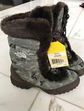 NEW Northface Women Nuptse Fur III Goose Down snow winter boots size 7