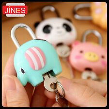 5 pieces Cute Cartoon Doll Animal Mini Padlock Security Lock With Key Kid Gift