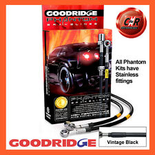Peugeot 208 03/12 on (All) Goodridge Stainless V.Black Brake Hoses SPE1050-4C-VB