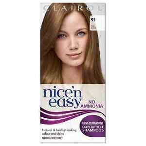 Clairol Nice'n Easy Semi-Permanent Hair Dye No Ammonia Shade 91 Dark Blonde BNIB