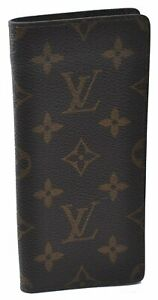Auth Louis Vuitton Monogram Etui Lunettes Simple Glasses Case M62962 LV B2424