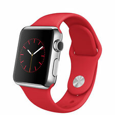 Apple Watch 38mm Stainless Steel Case Red Sport Band - (MLLD2LL/A)