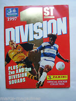 RARE PANINI FOOTBALL SOCCER 1ST DIVISION 1997 STICKER BOOK ALBUM EMPTY UNUSED