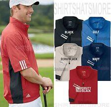 Adidas Golf Mens 1/4 Zip Windshirt Short Sleeve Freedom Jacket Windbreaker S-3XL