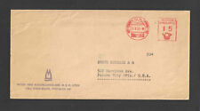 1963 Germany to Usa Advertising Metered Cover w/ Nice Posthorn Meter Koln