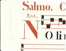 Manoscritto antico CAPOLETTERA N rosso ANTIFONARIO MUSICA 1850 ca. Drop Cap
