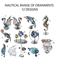 Crystocraft Crystal Ornament Nautical Fish Swarovski Elements Gift Gift Boxed