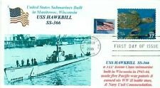 USS HAWKBILL SS-366 World War II Manitowoc Built Submarine PhotoCachet First Day