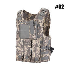 Tactical Vest SWAT Police Black Ammo Military Airsoft Hunting Combat Carrier Y43