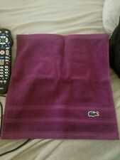Lacoste Face Towel Wash Cloth Purple Mulberry