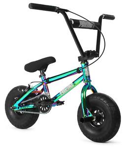 """FatBoy Pro Mini 10"""" BMX Bicycle Fat Tire Freestyle Bike Warhead X Oil Slick NEW"""