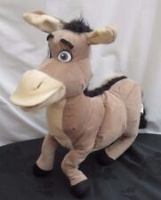 "Donkey from Shrek Soft Plush toy with bendable / poseable legs. 2004. 18"" long"