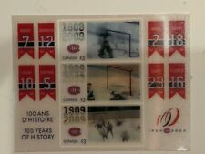 Montreal Canadiens Centennial Stamp Set. Lenticular motion. Canada Post issued.