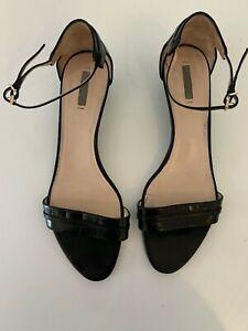 Giorgio Armani Black Leather Sandals