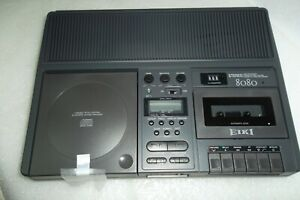 EIKI Stereo 8080 USB Drive Tape Cassette Player / Recorder CD Player Jack NEW