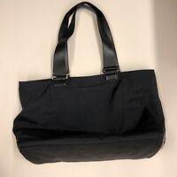 AS IS Large Tumi Black Cargo Tote Bag Ballistic Nylon Leather Handles FASTship