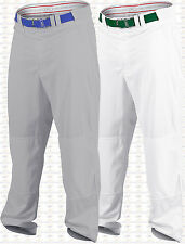 Rawlings Plated PRO150 Open Bottom Baseball Pants, Adult, Mens, White, Grey