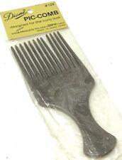 Vintage NIP Diane PIC-COMB Hair Pick Pik New Sealed In Package Brown FREE SHIP