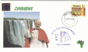 Zimbabwe 1988 Papal Visit souvenier cover