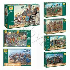 "Model Kits ""Warriors, knights of Medieval Army, 13-15 cent"" soldiers 1:72 Zvezda"