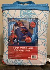 """Marvel Spiderman """"Regulator"""" Toddler 4 Piece Bed Set Toddler Bedding Set"""