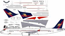 TACA Airbus A-321 decals for Revell 1/144 kit