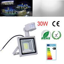 30W PIR Motion Sensor SMD LED Cool White Floodlight Security Lamp Garden Outdoor