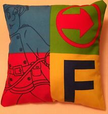 Fireman Sam Fire Engine Handmade cushion cover/pillow case 12 inch x 12 inch