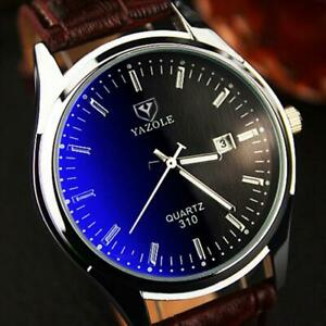 Relogio Masculino 2020 Brand Yazole Watch Business Belt Men's Watch Calendar Fas