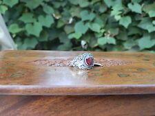 Bali Sterling Silver Ruby Ring Size 7 1.49 TGW