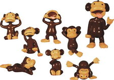 50 TINY PLASTIC MONKEY FIGURES CUPCAKE TOPPERS SMALL PARTY FAVOR MONKEYIN AROUND