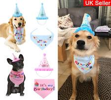 Pet Dog Birthday Hat Bandana Headwear Neckerchief Ties Party Fancy Dress Wear