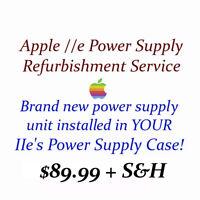 Apple IIe Power Supply Restoration Service w NEW Universal PSU + 3 Yr Warranty