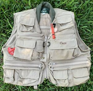 Vintage Orvis Fly Fishing Emergency Life Vest with Co2 Inflation Adult Size S