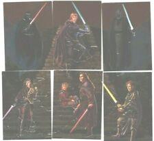 1996 Topps Star Wars Finest: Embossed Foil Card Set & 3 different Matrix Cards