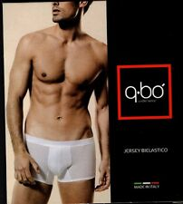 BOXER UOMO Q-BO JERSEY COTONE BIELASTICO MADE IN ITALY TG. 6 GRIGIO