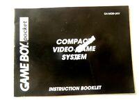 48580 Instruction Booklet - Gameboy Pocket Compact Video Game System - Nintendo