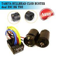 TAMIYA BULLHEAD CLOD BUSTER dual ESC BK TDE (2) 550 torque motors TEU-106