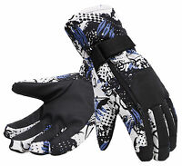 Men's Camouflage Waterproof Snowboarding & Ski Gloves with Hidden Zipper