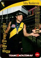 ✺New✺ 2019 RICHMOND TIGERS AFL Premiers Card TOBY NANKERVIS Teamcoach