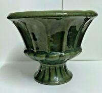 Green Haeger USA #671 Olive Green Pedestal Planter/Vase