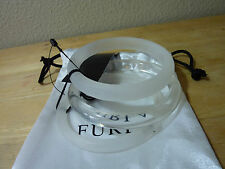 Furla White/Clear Acrylic Triple Stacked Bangles - $148.00 - MADE IN ITALY