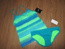 NWT~NIKE~ 12, Two Piece Tankini Swimsuit, Bathing Suit, Summer Camp, Vacation