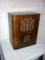 Ancien POSTE RADIO TSF À LAMPES 1930 Marque PHILIPS 637A à restaurer