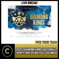 2020 PANINI DIAMOND KINGS BASEBALL 24 BOX FULL CASE BREAK #A806 - PICK YOUR TEAM