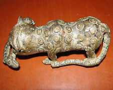 GOLD WEIGHT BRONZE HUNT DOG LEOPARD LION TIGER AFRICA BENIN ASHANTI IVORY COAST